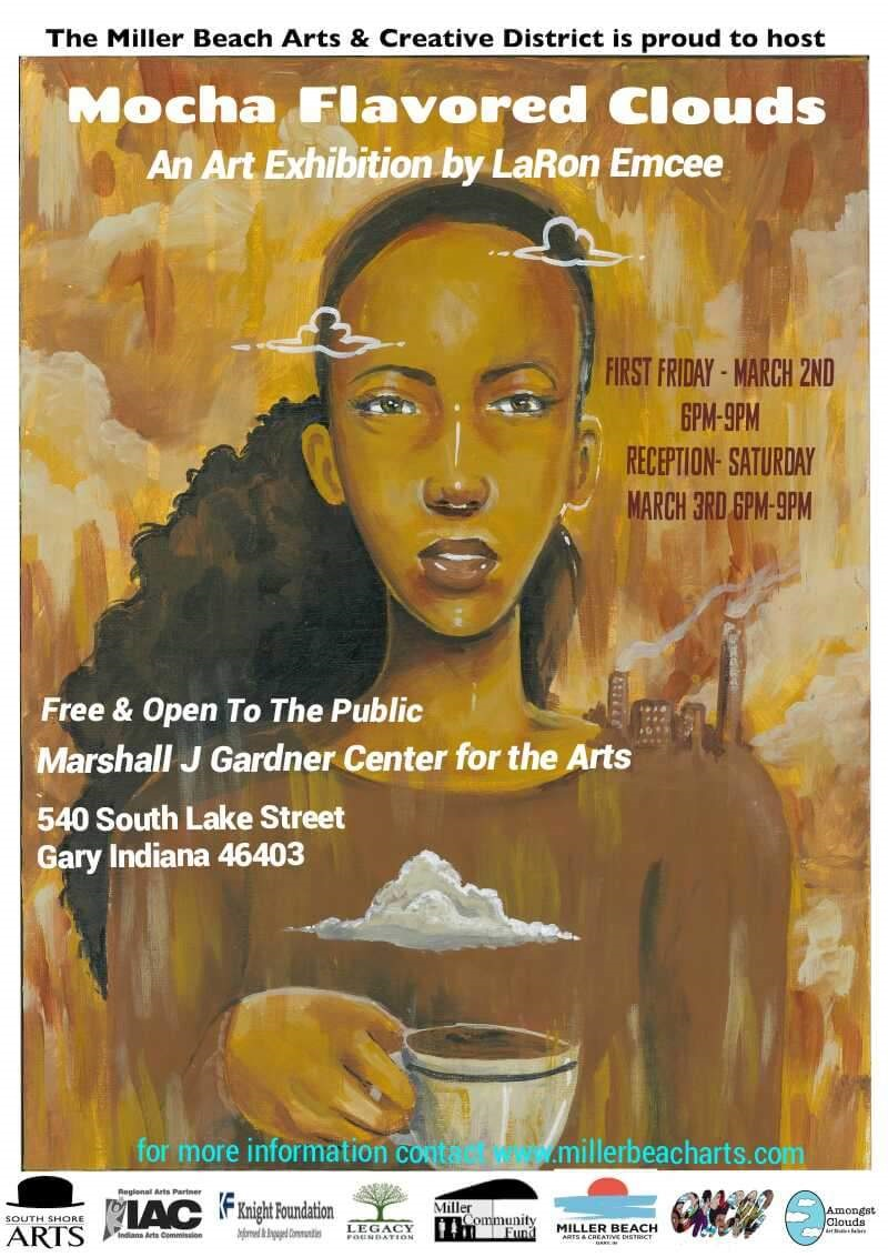 "First Fridays ""Mocha Flavored Clouds"" art exhibit"