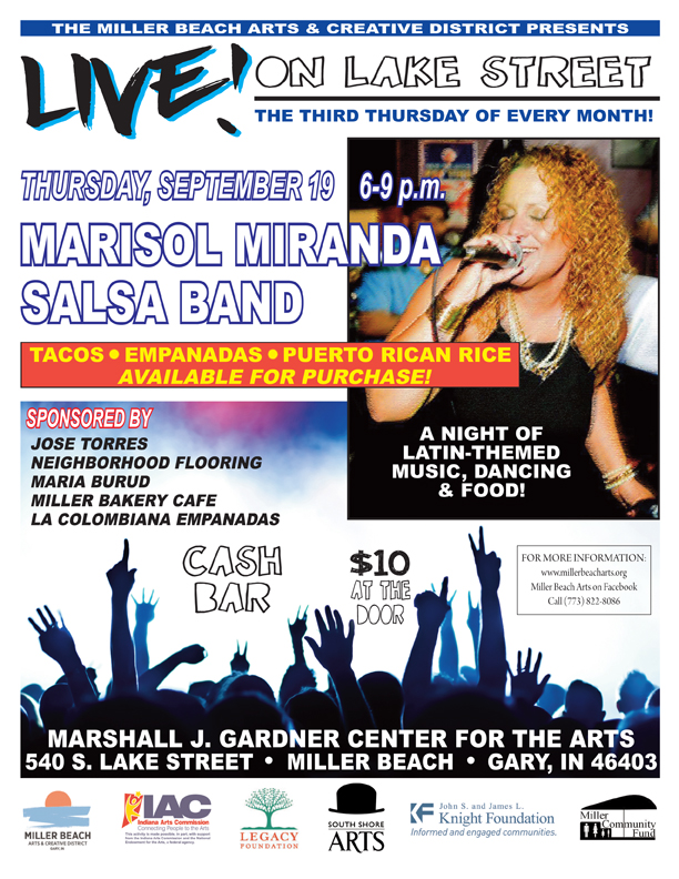Live on Lake Street - Marisol Miranda salsa band