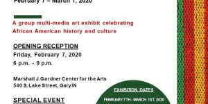 Flyer Black History Month Exhibit 2020 02 07